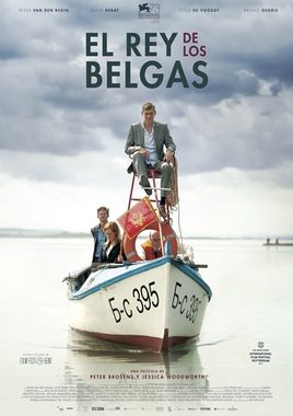Cartel oficial en español de: El rey de los belgas