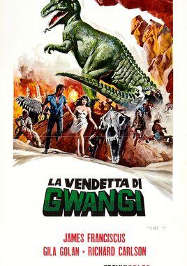 """Cartel de """"El valle de Gwangi"""" italiano"""