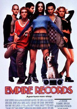 "Cartel de ""Empire Records"" italiano"
