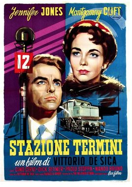 "Cartel ""Estación Termini"" italiano"