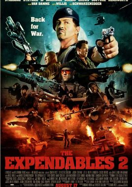"Cartel ""Los mercenarios 2 (The Expendables 2)"" norteamericano 2"