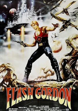 "Cartel ""Flash Gordon"" argentino"