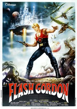 "Cartel ""Flash Gordon"" italiano"