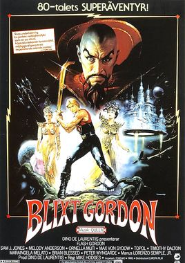 "Cartel ""Flash Gordon"" sueco"