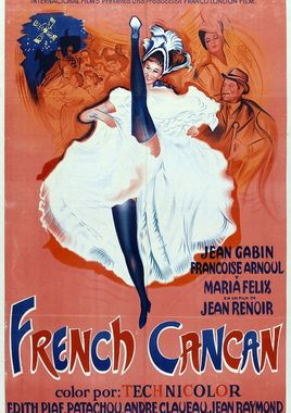 """Cartel """"French Cancan"""" argentino"""