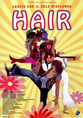 "Cartel ""Hair"" italiano 2"