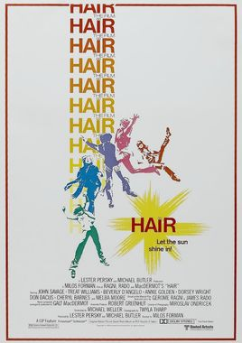 "Cartel ""Hair"" norteamericano 2"
