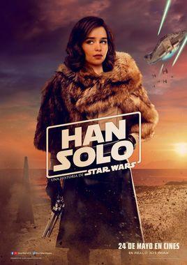 """Cartel de personajes """"Han Solo: Una historia de Star Wars"""" español 2"""