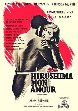 "Cartel ""Hiroshima, mon amour"" argentino"