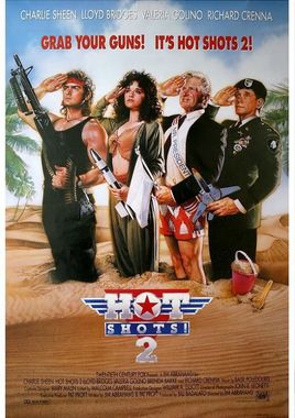 "Cartel ""Hot Shots 2"" norteamericano"