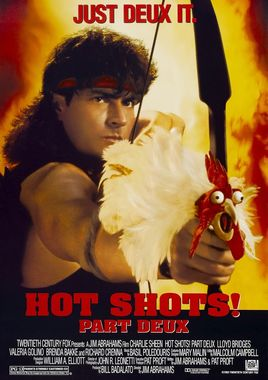 "Cartel ""Hot Shots 2"" norteamericano 2"