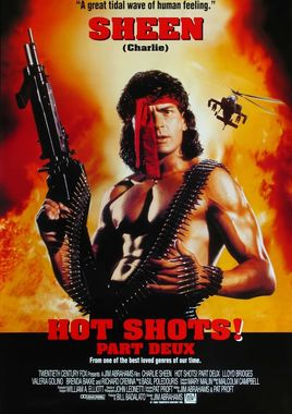 "Cartel ""Hot Shots 2"" norteamericano 3"