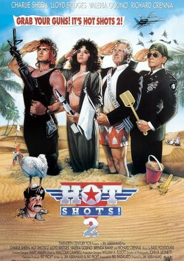 "Cartel ""Hot Shots 2"" norteamericano 4"