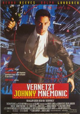 "Cartel de ""Johnny Mnemonic"" alemán"