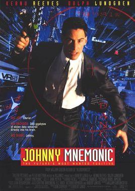 """Cartel de """"Johnny Mnemonic"""" norteamericano"""