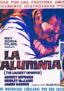 "Cartel de ""La calumnia"" español"
