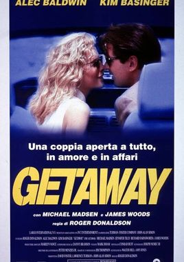 "Cartel ""La huida (The Getaway)"" italiano"