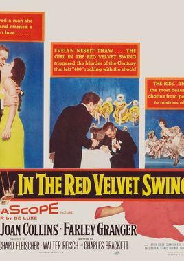 """Cartel """"La muchacha del trapecio rojo"""" estadounidense"""