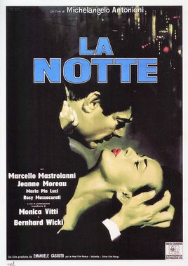 """Cartel """"La noche"""" italiano"""