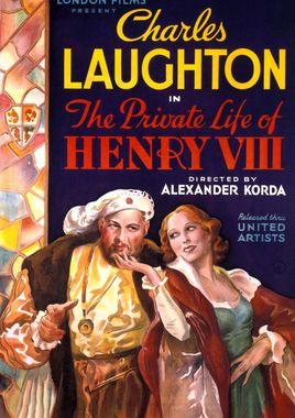 """Cartel """"La vida privada de Enrique VIII"""" inglés 3"""