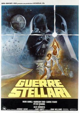 """Cartel """"La guerra de las galaxias"""" italiano"""