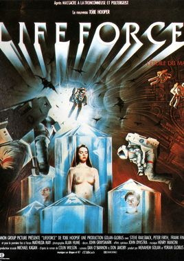 "Cartel ""Lifeforce, fuerza vital"" francés"