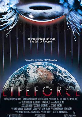 """Cartel """"Lifeforce, fuerza vital"""" norteamericano"""