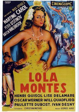 """Cartel """"Lola Montes"""" argentino"""
