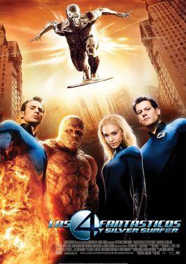 Cartel oficial en español de: Los 4 fantásticos y Silver Surfer