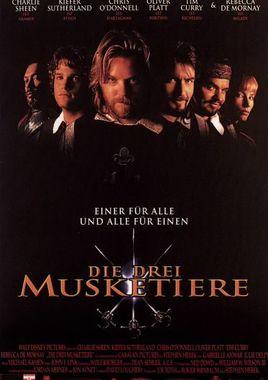 """Cartel """"Los tres mosqueteros (1993)"""" alemán"""