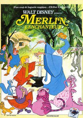 """Cartel de """"Merlín el encantador"""" francés"""