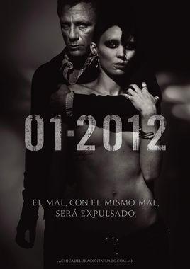 """Cartel """"Millennium: Los hombres que no amaban a las mujeres"""" mexico"""
