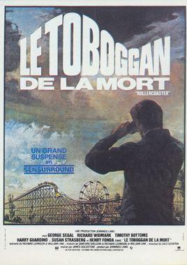 """Cartel de """"Montaña rusa"""" francés"""