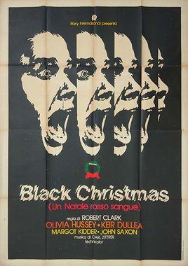 """Cartel """"Navidades negras"""" italiano"""
