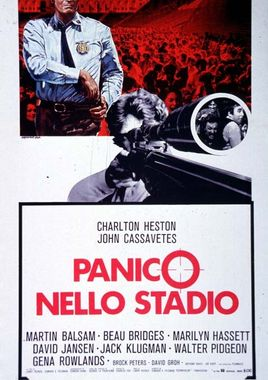 "Cartel de ""Pánico en el estadio"" italiano"