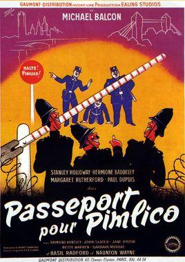 "Cartel ""Pasaporte para Pimlico"" francés"