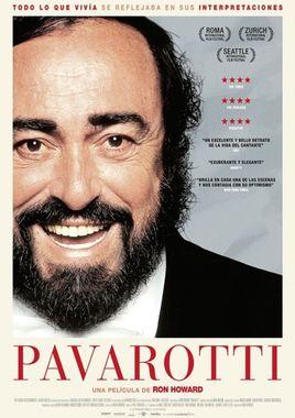 Cartel oficial en español de: Pavarotti
