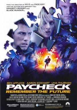 "Cartel teaser ""Paycheck"" norteamericano 2"