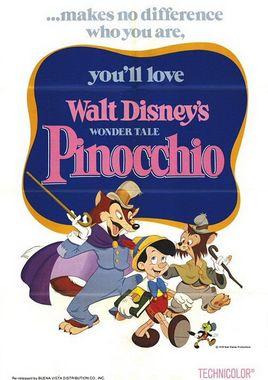 """Cartel de """"Pinocho 1940"""" norteamericano"""