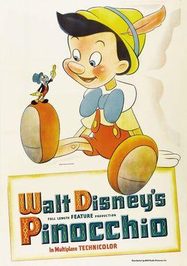 """Cartel de """"Pinocho 1940"""" norteamericano 9"""