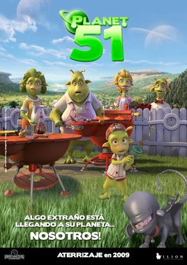 "Cartel ""Planet 51"" español 3"