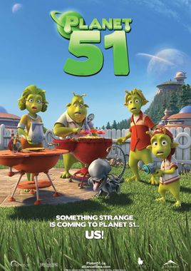 "Cartel ""Planet 51"" norteamericano"