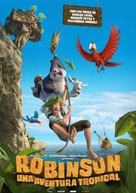 Cartel oficial en español de: Robinson. Una aventura tropical