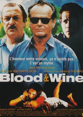 "Cartel de ""Blood & Wine (Sangre y vino)"" francés"