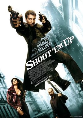 "Cartel ""Shoot 'Em Up - En el punto de mira"" alemán"