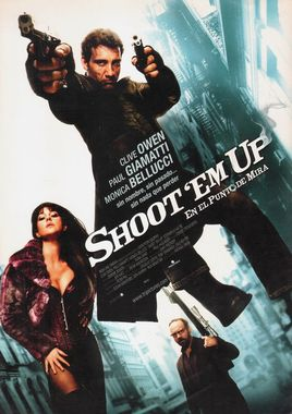 "Cartel ""Shoot 'Em Up - En el punto de mira"" español 2"