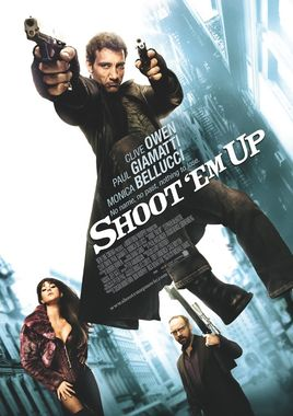 "Cartel ""Shoot 'Em Up - En el punto de mira"" norteamericano"