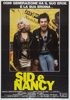 "Cartel ""Sid y Nancy"" italiano"