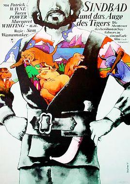 """Cartel de """"Simbad y el ojo del tigre"""" alemán 3"""