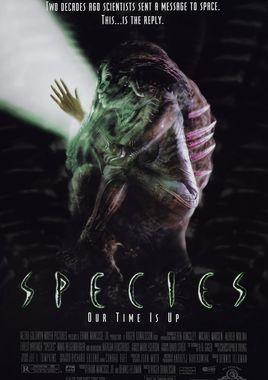 """Cartel """"Species (Especie mortal) """" norteamericano 2"""